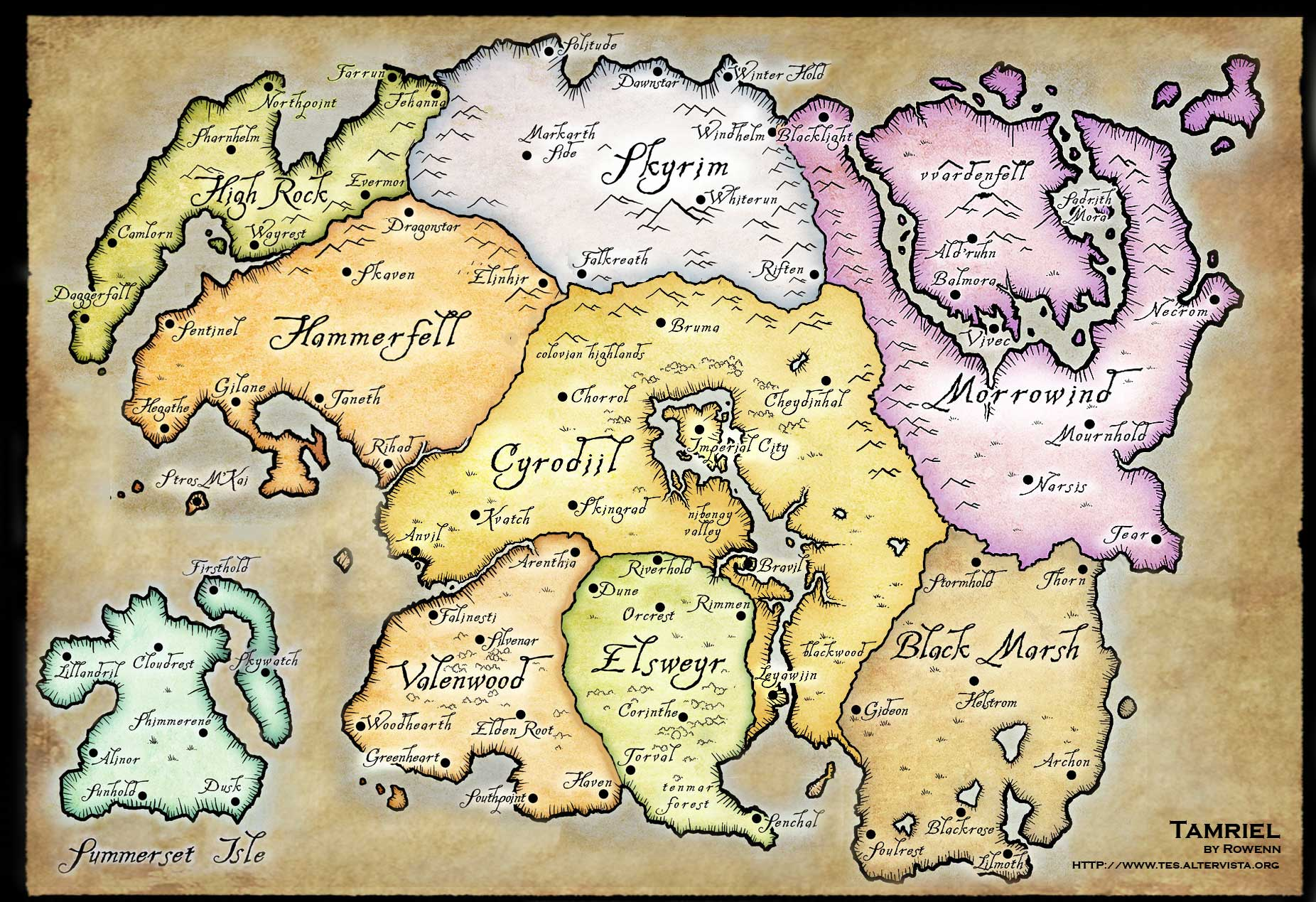 The WHOLE MAP of Tamriel!